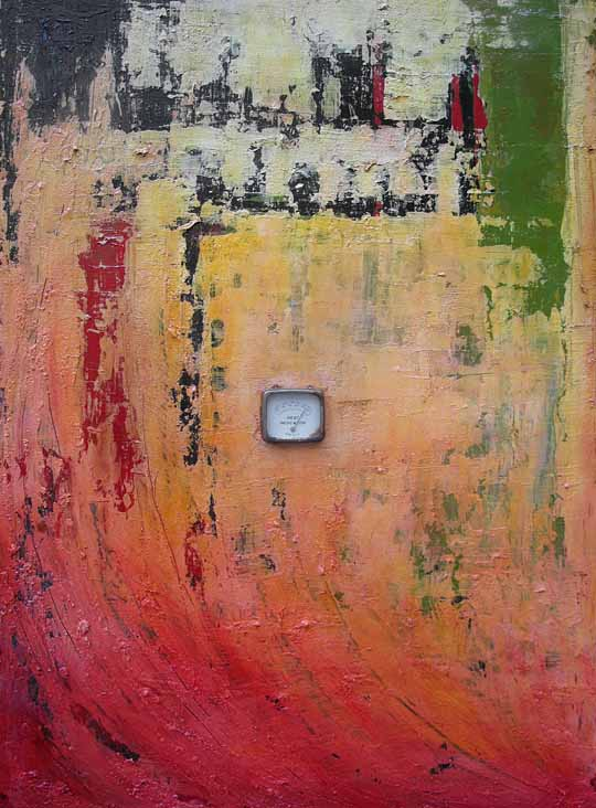 Mixed media abstract art by Dave Goldman, Asheville artist